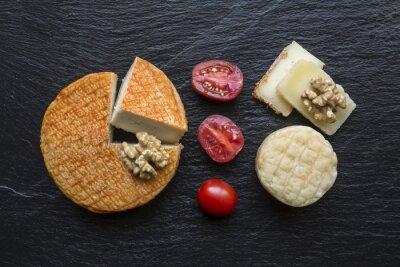 Obraz Plateau de formage sur Ardoise Noir