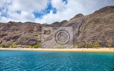 Playa de Las Teresitas beach in San Andres, Tenerife, Spain.