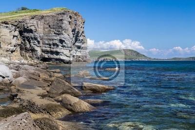 Plaża na wyspie Russkij, Władywostok, Rosja