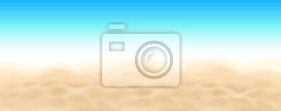 Obraz Plaża piasku i niebo tle krajobrazu wektorowego