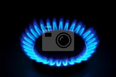 Płomienie gazu