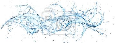 Obraz Plusk wody w poziomym wirowaniu