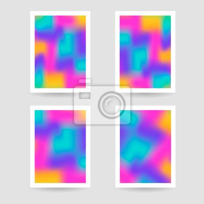 7d0ab2ca7c5f54 Obraz Płynne kolory tła, plakaty, fioletowy, żółty, różowy ...