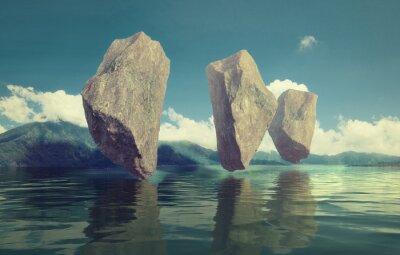 Obraz pływające skały