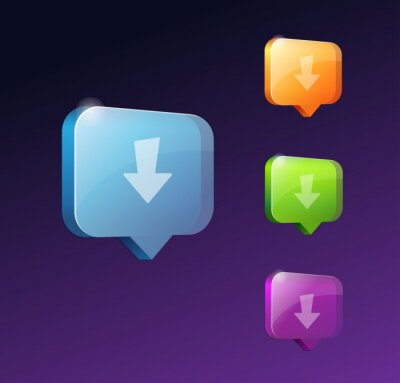 Pobierz przyciski internetowe na stronę internetową lub aplikację