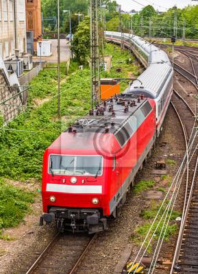 Pociąg Intercity z dworca Hauptbahnhof Hamburg - Niemcy