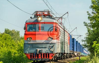 Pociąg kontenerowy w Rosji
