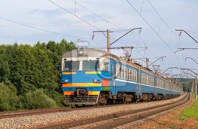 Pociąg podmiejski na Białorusi