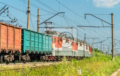 Pociąg towarowy w Rosji