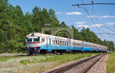 Podmiejski pociąg elektryczny na Ukrainie