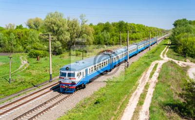 Podmiejski pociąg elektryczny w Kijowie regionu, Ukraina