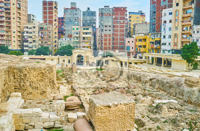 Podstawa Serapeum, Aleksandria, Egipt