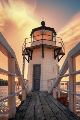 Obraz Podwojenie Point Lighthouse w Maine, USA