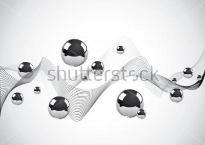 Obraz Podzielić tło set metalowe piłki