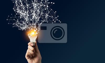 Obraz Pojęcie nowych pomysłów i innowacji