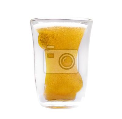 Pojęcie przyjemności, alkohol i piwo szkła w kształcie kobiety