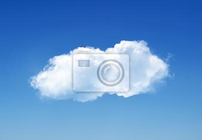 Obraz Pojedyncze chmury na niebie latem