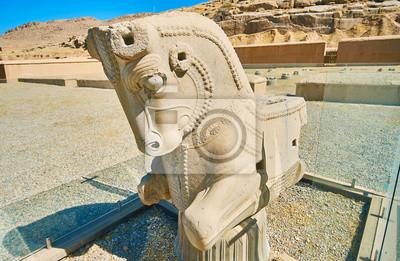 Pół-koń protome w Persepolis, Iran