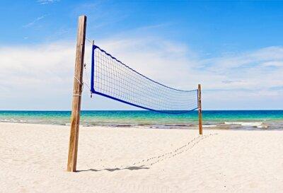 Obraz Pola Siatkówka plażowa i netto w Miami na Florydzie w piękny, słoneczny, letni dzień
