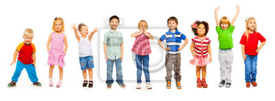 Obraz Połączenie małych dzieci stałego samodzielnie