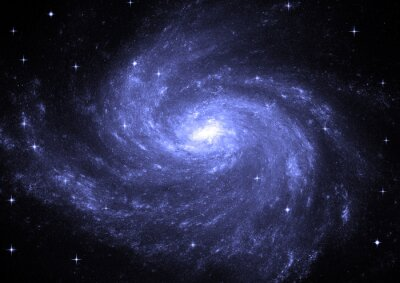Obraz Pole Star w przestrzeni kosmicznej i mgławic