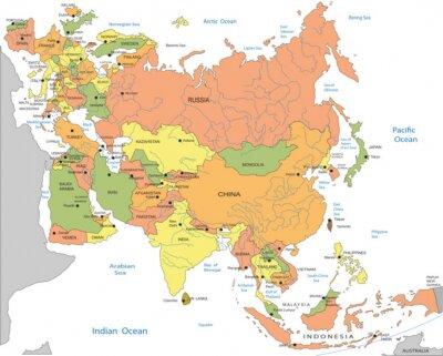 Obraz Polityczna Mapa Eurazji Na Wymiar Tlo Projekt