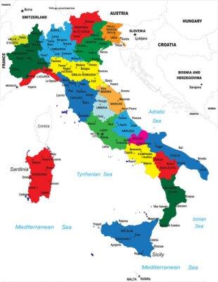 Obraz Polityczna Mapa Wloch Na Wymiar Papier Kraj Razem Redro Pl