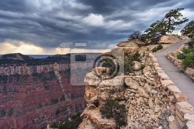 Północnej Rim Wielki Kanion od Cap Royal i Walhalla Overlook, Arizona, USA