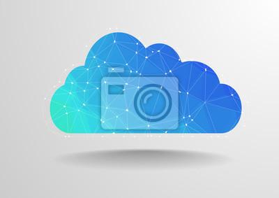 Obraz Polygon cloud
