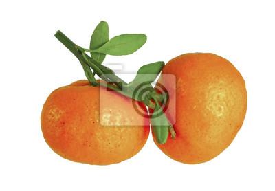 Pomarańcze wyizolowanych / pomarańczy samodzielnie na białym tle.