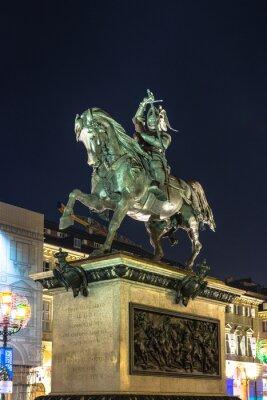 Obraz Pomnik Emanuele Filiberto w Turynie