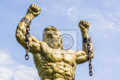 Obraz Pomnik Prometeusza Z Przerywanym łańcuchu Na Wymiar
