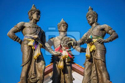 Pomnik Trzech Króli, Chiang Mai, Tajlandia.