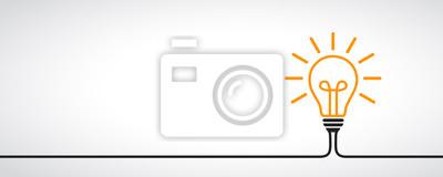 Obraz Pomysł, koncepcja kreatywnych znak żarówka - wektor