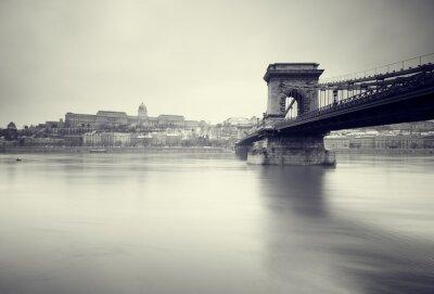 Obraz Ponury obraz zimy węgierskich zabytków ,