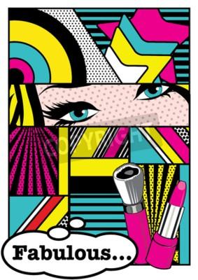 Obraz Pop art comic stylu z bańki myśli