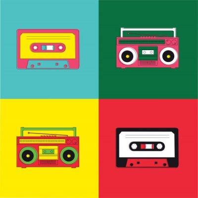 Obraz Pop Art Radio Cassette
