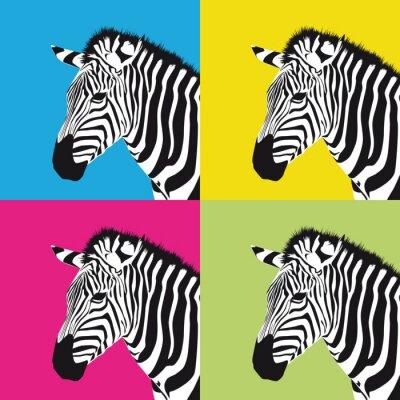 Obraz pop art zebra