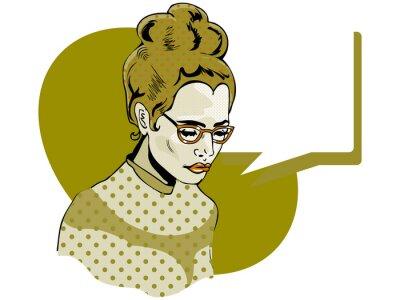 Obraz Pop sztuki ilustracji kobiety