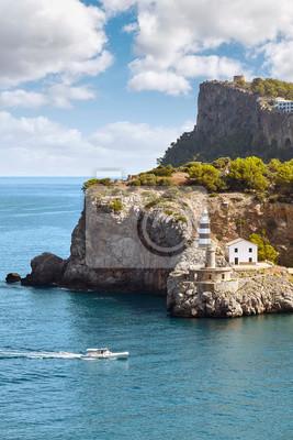 Port de Soller lighthouse, Majorca, Spain.