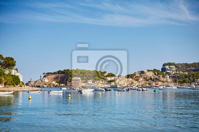 Port de Soller village located on the west coast of Mallorca, Spain.