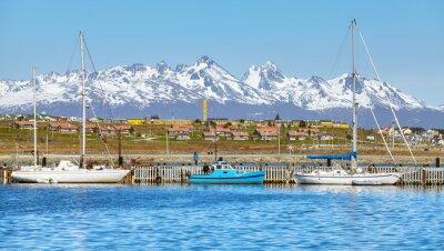 Port of Ushuaia, capital of Tierra del Fuego Province, Argentina.