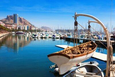 Obraz port z jachtów w Alicante