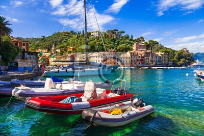 Portofino - Italian fishing village and  luxury holiday resort in Liguria