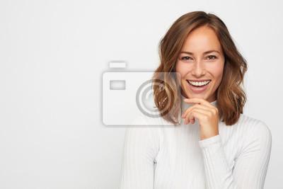 Obraz portrait of young happy woman