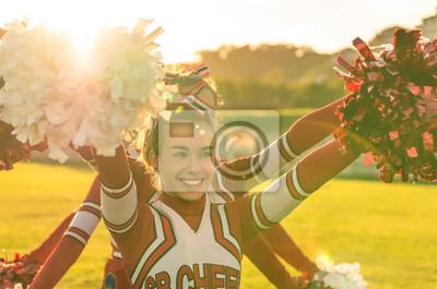 Obraz Portret cheerleeder w akcji