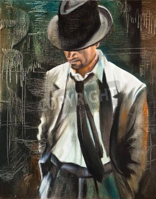Obraz Portret mężczyzny z papierosem