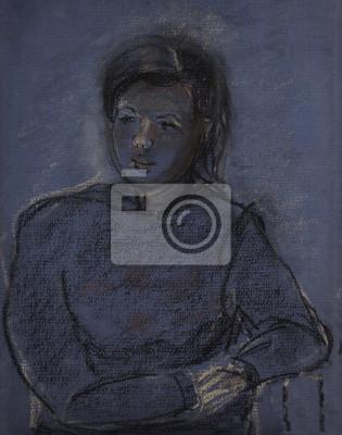 Obraz Portret młodej dziewczyny