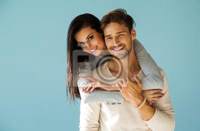 Obraz Portret uśmiechnięta para piękne