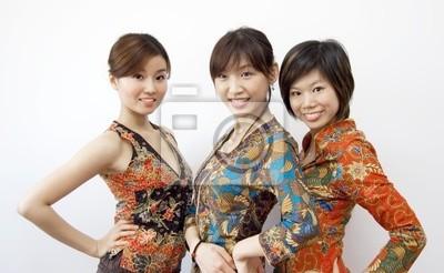 portrety trzech Azjatki